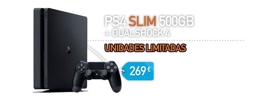 CONSOLA SONY PS4 SLIM 500GB DUALSHOCK 4 - BLACK FRIDAY - BARATA