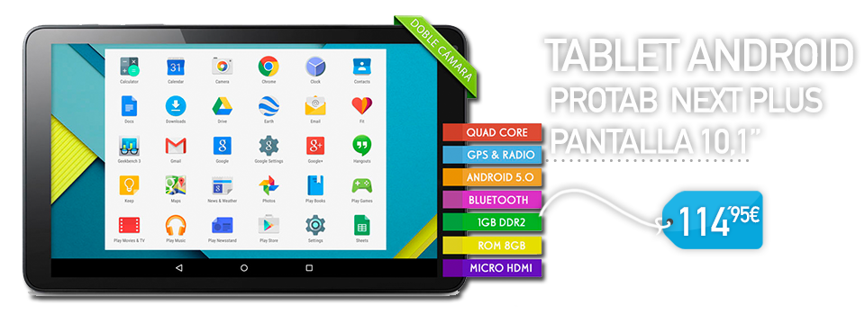 Oferta Tablet Android 10.1