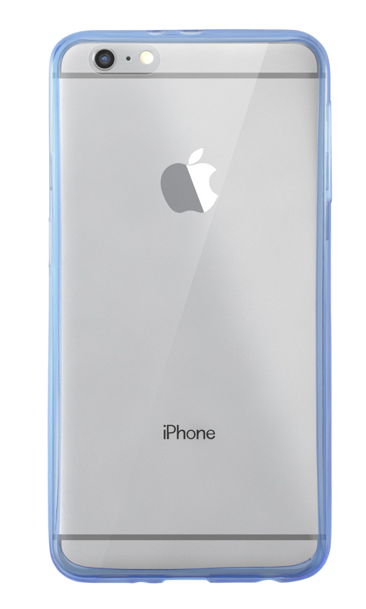 Comprar funda de silicona rigida transparente iphone 6 azul a 4 01 iphone 4 4s 5 5c 5s 6 - Fundas iphone silicona ...