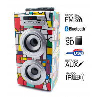 Altavoz Reproductor MP3-Radio-Bluetooth-SD-USB - PICASSO