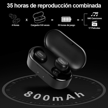 Auriculares Bluetooth QCY-T2C HiFi IPX5