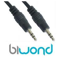 Cable Audio Estereo Jack 0.3m BIWOND
