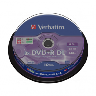 DVD+R DL 8.5GB Doble Capa Verbatim Tarrina 10 Und