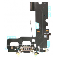 Flex Conector Carga Micrófono Audio Dock iPhone 7 - Negro