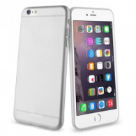 FUNDA DE SILICONA RIGIDA TRANSPARENTE iPHONE 6 GRIS