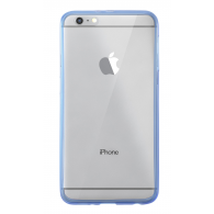 FUNDA DE SILICONA RIGIDA TRANSPARENTE iPHONE 6 PLUS AZUL
