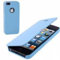 Funda Flip Cover iPhone 5/5S Azul Celeste(Con Imán)