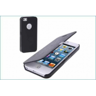 Funda Flip Cover iPhone 5/5S Negro (Con Imán)