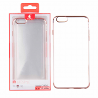 Funda gel TPU Transparente iPhone 6/6s plus Negra