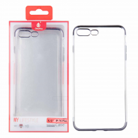 Funda gel TPU Transparente iPhone 7 Plus Plata