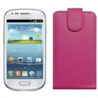 Funda Piel Exclusiva Samsung i8190 Galaxy SIII Mini Rosa