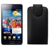 Funda Piel Exclusiva Samsung i9100 Galaxy SII Negra