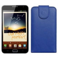 Funda Piel Exclusiva Samsung i9220 Galaxy Note II Azul