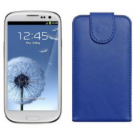 Funda Piel Exclusiva Samsung i9300 Galaxy SIII Azul