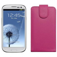 Funda Piel Exclusiva Samsung i9300 Galaxy SIII Rosa