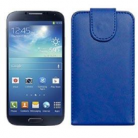 Funda Piel Exclusiva Samsung i9500 Galaxy S4 Azul