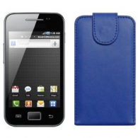 Funda Piel Exclusiva Samsung S5830 Galaxy Ace Azul