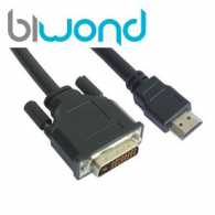 HDMI TO DVI (24+1) CABLE BLACK 1.8M BIWOND