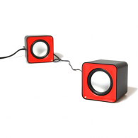Mini Altavoces con Amplificador Rojo Usb 2.0