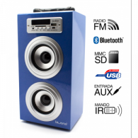 Altavoz Reproductor MP3-Radio-Bluetooth-SD-USB - AZUL