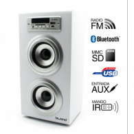 Altavoz Reproductor MP3-Radio-Bluetooth-SD-USB - BLANCO